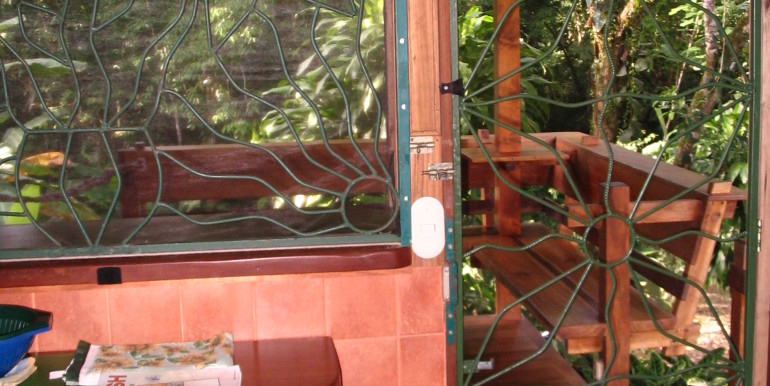 entrance door between terrace and kitchen